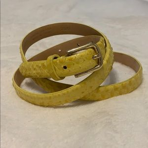 J Crew Yellow Leather Belt Medium